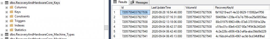 BitLocker Management in MEMCM database