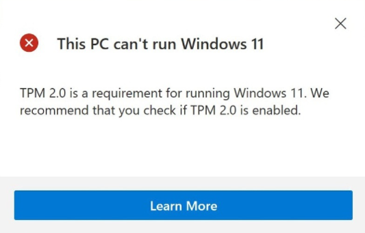 TPM is one of the requirements for windows 11